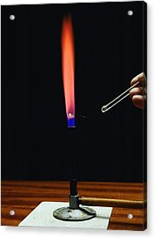 Strontium Flame Test Acrylic Print by Andrew Lambert Photography