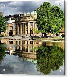 Stuttgart Staatstheater Staatsoper Opera Theatre Germany Acrylic Print by Matthias Hauser