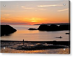 Sun And Surf Acrylic Print by Gary Finnigan