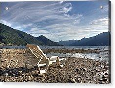 Sun Chair On Lake Maggiore Acrylic Print by Joana Kruse