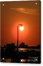 Sun Lamp Acrylic Print by Laurence Oliver