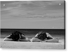 Sunbathers Acrylic Print by Noel Elliot
