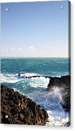 Acrylic Print featuring the photograph Sunny Day And Stormy Sea by Kathleen Pio