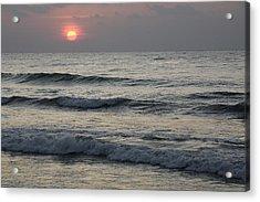 Sunrise Over Arabian Sea Hawf Protected Acrylic Print by Sebastian Kennerknecht