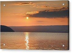 Sunrise Over Keuka II Acrylic Print by Steven Ainsworth