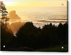 Sunset At Ecola Point Acrylic Print