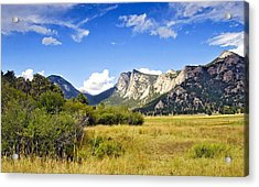 Sunset At Rocky Mountain Park Co. Acrylic Print