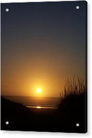 Acrylic Print featuring the photograph Sunset At Surfside 1 by Peter Mooyman
