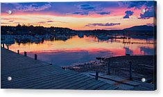 Sunset Bass Harbor Maine Acrylic Print