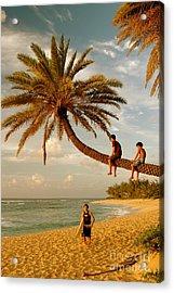 Sunset Beach Oahu Acrylic Print