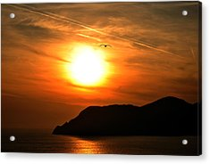Sunset In The Village Corniglia Acrylic Print by Neha Singh
