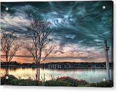 Sunset Over Canebrake Acrylic Print by Brenda Bryant