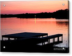 Acrylic Print featuring the photograph Sunset View From Dockside by Kathy  White