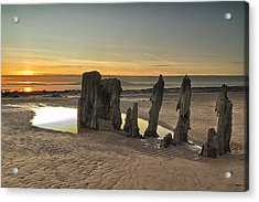 Sunset Wreck Acrylic Print by Fiona Messenger