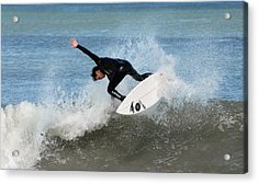 Surfing 395 Acrylic Print by Joyce StJames