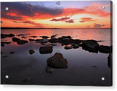 Swan Bay Sunset Acrylic Print by Paul Svensen