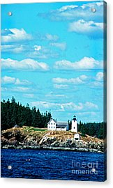 Swans Island Lighthouse Acrylic Print by Thomas R Fletcher