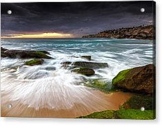 Swirls On The Rock Acrylic Print by Mark Lucey