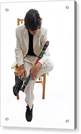 Syd Kitchen - Flute Acrylic Print by Miguel Capelo