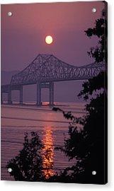 Tappen Zee Bridge At Sunset Acrylic Print by Richard Nowitz