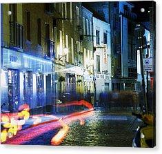 Temple Bar, Dublin, Co Dublin, Ireland Acrylic Print by The Irish Image Collection