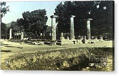 Temple Of Zeus, Olympia, Greece Acrylic Print