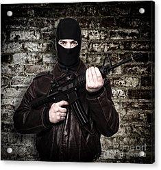 Terrorist Portrait Acrylic Print