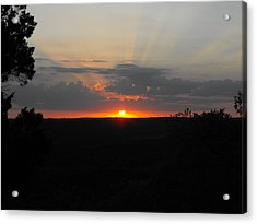 Texas Sunset Acrylic Print by Rebecca Cearley