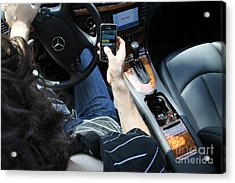 Texting And Driving Acrylic Print by Photo Researchers, Inc.