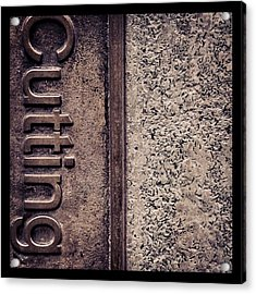 #texture #abstract #manchester Acrylic Print