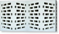 Textured Angled Walls Acrylic Print by Blink Images