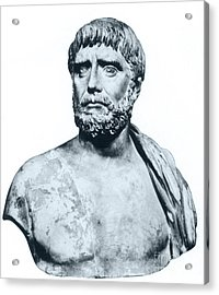 Thales, Ancient Greek Philosopher Acrylic Print by Photo Researchers
