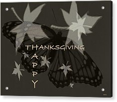 Thankful Holiday Card Acrylic Print by Debra     Vatalaro