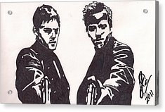 Acrylic Print featuring the drawing The Boondock Saints by Jeremiah Colley