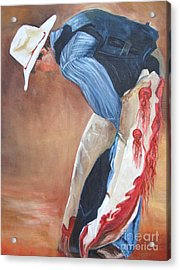 The Bull Rider Acrylic Print by Barbara Haviland