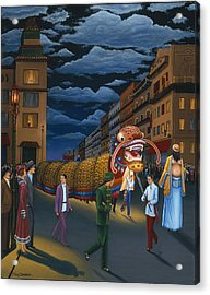 The Chinese New Year Acrylic Print by Tracy Dennison