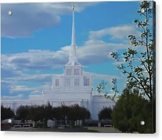 The Church Acrylic Print by Darrel Froman