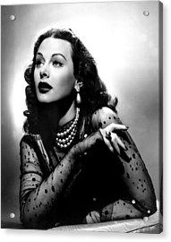 The Conspirators, Hedy Lamarr, 1944 Acrylic Print by Everett