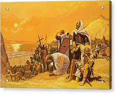 The Crusades Acrylic Print by Gerry Embleton