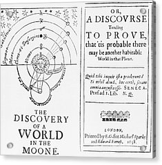 The Discovery Of A World In The Moone Acrylic Print by Science Source