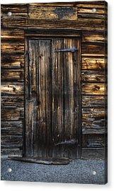 The Door Acrylic Print by Nick  Shirghio