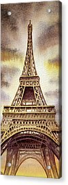 The Eiffel Tower  Acrylic Print by Irina Sztukowski