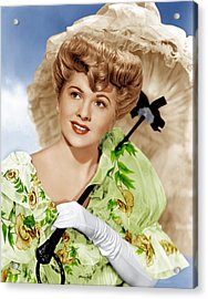 The Emperor Waltz, Joan Fontaine, 1948 Acrylic Print