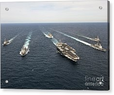The Enterprise Carrier Strike Group Acrylic Print by Stocktrek Images