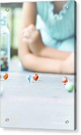 The Game Acrylic Print by Stephanie Frey