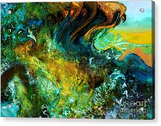 The Golden Wave  Acrylic Print by Anne Weirich