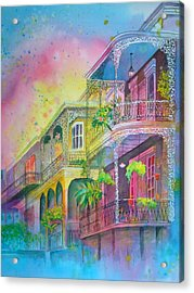 Acrylic Print featuring the painting The Grace Of Lace by AnnE Dentler