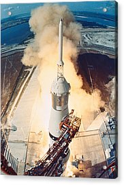 The Launch Of A Space Rocket Acrylic Print by Stockbyte