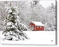 The Little Red School House Acrylic Print