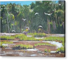 The Marshes Acrylic Print